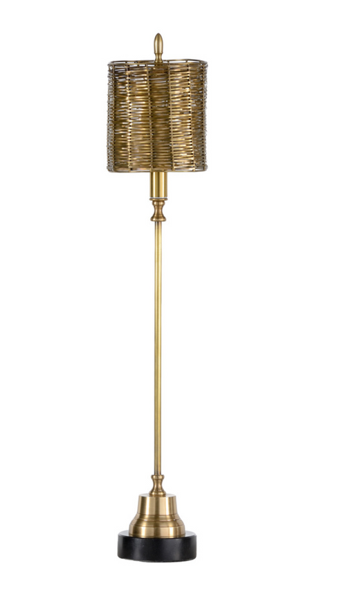 Milo Brass Buffet Lamp by Wildwood