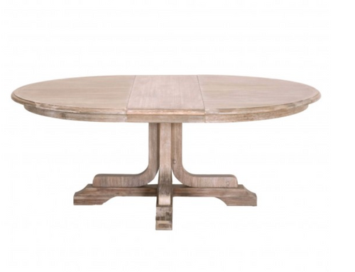 Torrey Round Extendable Dining Table, Natural Gray