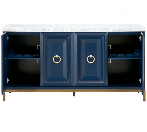 Blue and White Carrera Sideboard