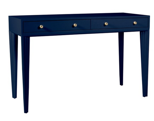 Barcelona Desk in Navy Blue by David Francis Furniture