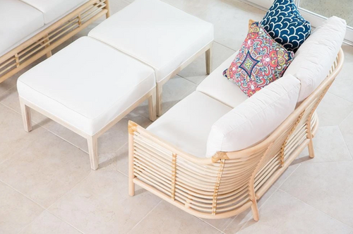 Sienna Loveseat in White by David Francis