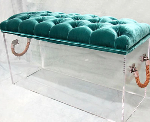 Skinny Bella Bench by Jamie Dietrich in Teal