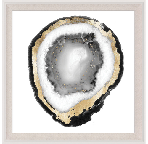 Natural Curiosities Black and White Geode 1 Art