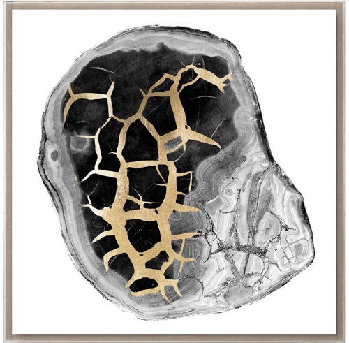 Natural Curiosities Black and White Geode 2 Art