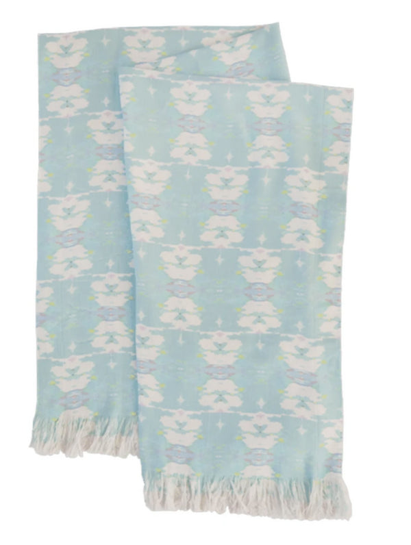 Butterfly Garden Blue Throw Blanket by Laura Park Designs
