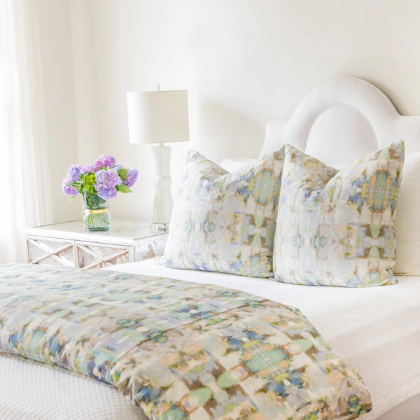 Sea Glass Duvet Cover by Laura Park