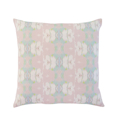 Laura Park Butterfly Garden Blush Linen Cotton Pillow