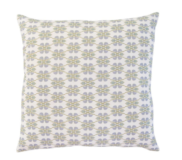Laura Park Designs Clover Sky Linen Cotton Pillow