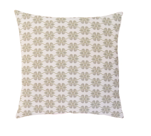 Laura Park Designs Clover Stone Linen Cotton Pillow