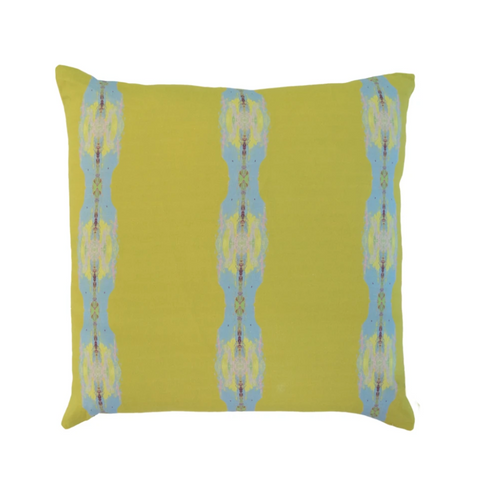 Provence Chartreuse Stripe Linen Pillow