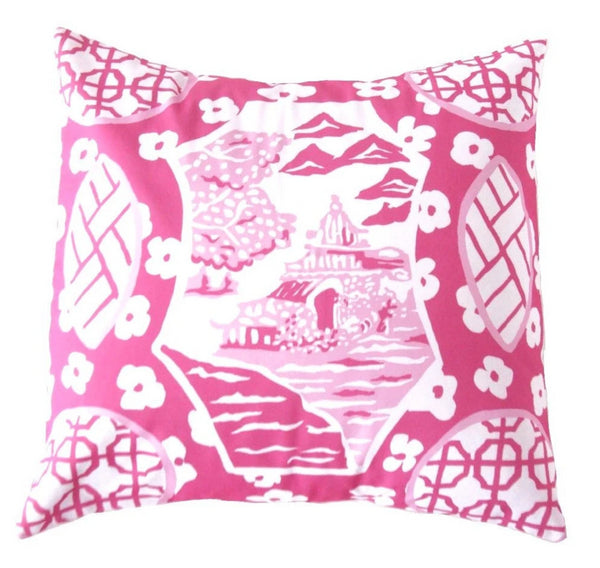 Dana Gibson Canton Pillow in Pink