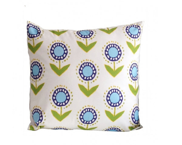 Dana Gibson Posey Ikat Pillow in Turquoise, 22""