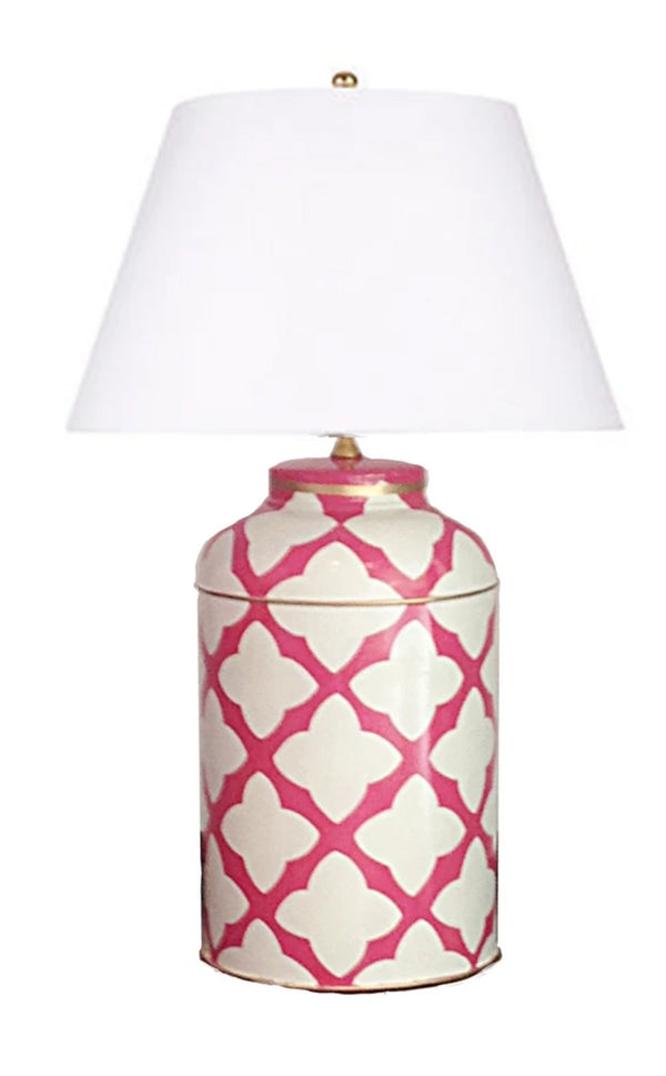 Dana Gibson Pink Moda Tea Caddy Lamp