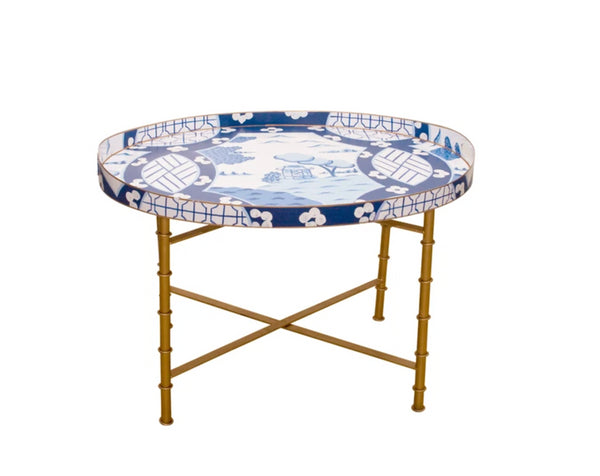 Dana Gibson Canton Blue Tray Table