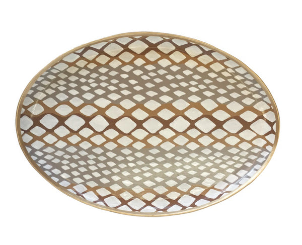 Dana Gibson Python Oval Platter in Natural