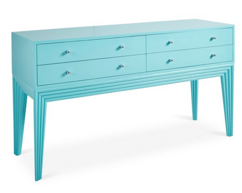 Barcelona Console Table in Turquoise by David Francis