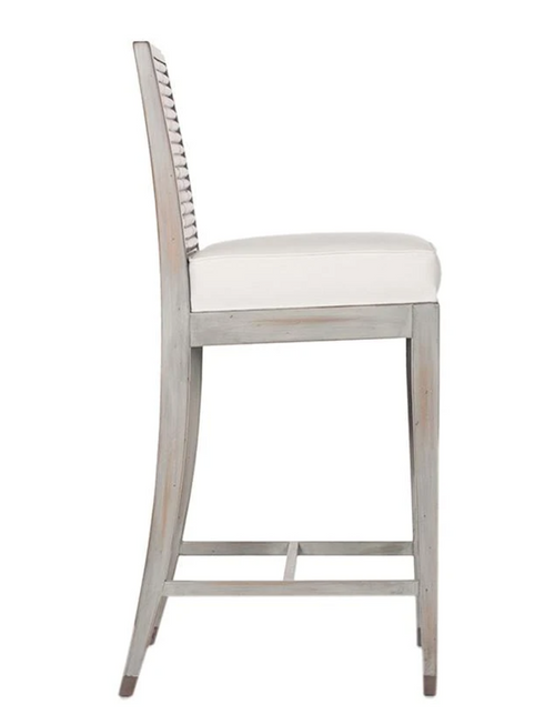 David Francis Stacked Bamboo Bar Stool