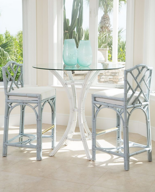 Chippendale Barstool in Gray by David Francis