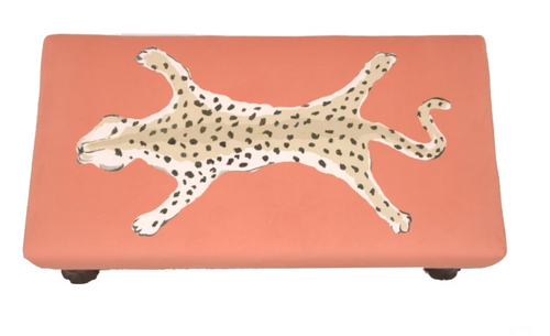 Dana Gibson Isleboro Leopard Bench, Orange
