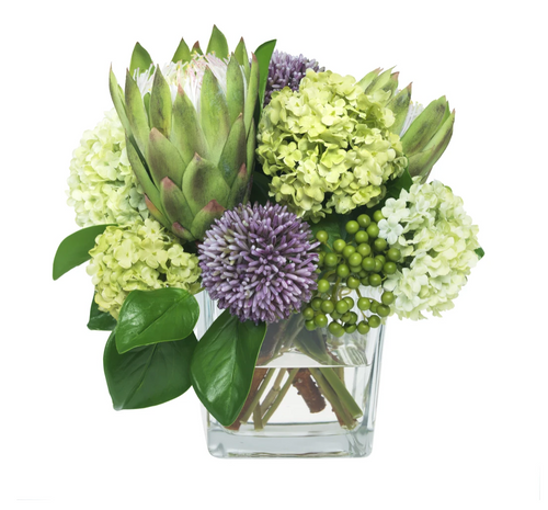 Diane James Protea and Allium Bouquet Mixed Floral Arrangement