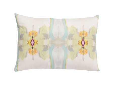Laura Park Sundance White Linen Cotton Pillow