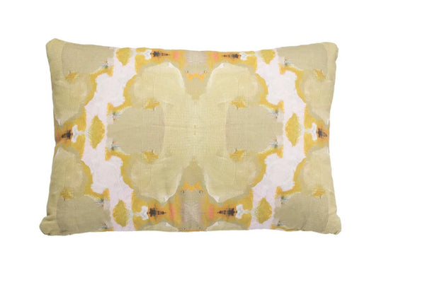Laura Park Under the Sea Taupe Linen Cotton Pillow