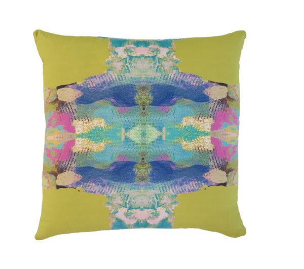 Laura Park Provence Chartreuse Linen Cotton Pillow