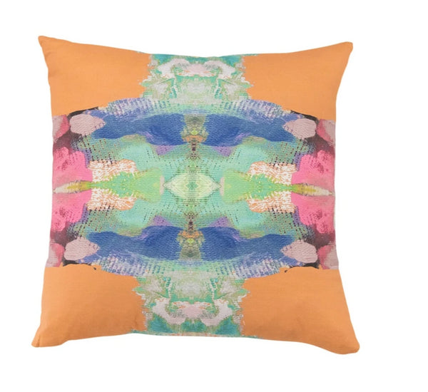Laura Park Provence L'Orange Linen Cotton Pillow
