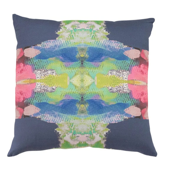 Laura Park Provence Marine Linen Cotton Pillow