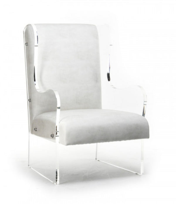 Zentique Acrylic Wingback Chair, ZF010