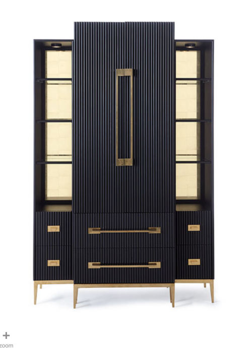 John-Richard Ebony Satin Tall Cabinet