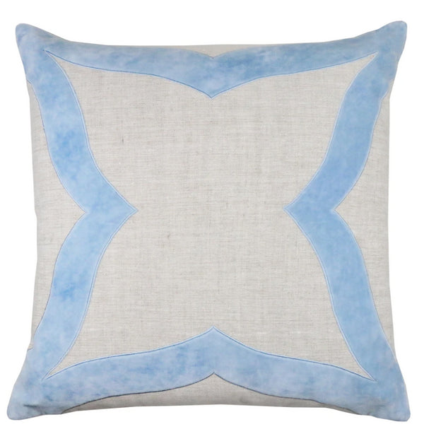 Piper Collection Elle Pillow in Winter Sky