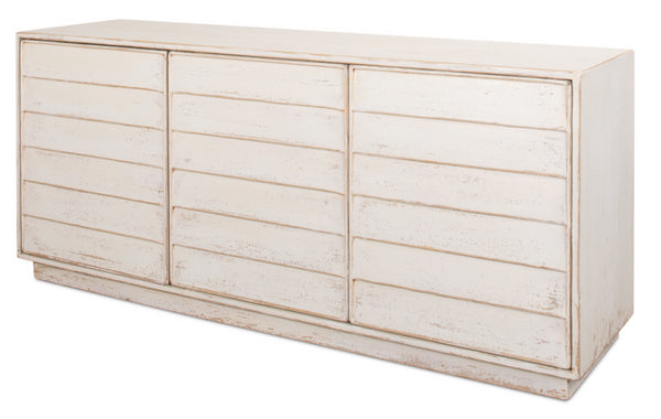 Louvered Sideboard, White by Sarreid