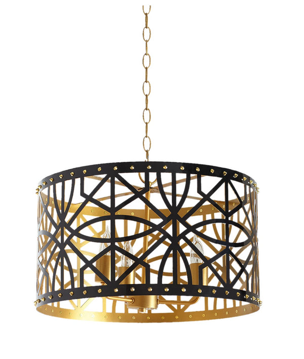 "Couture Jonah 20"" Pendant Light in Black"