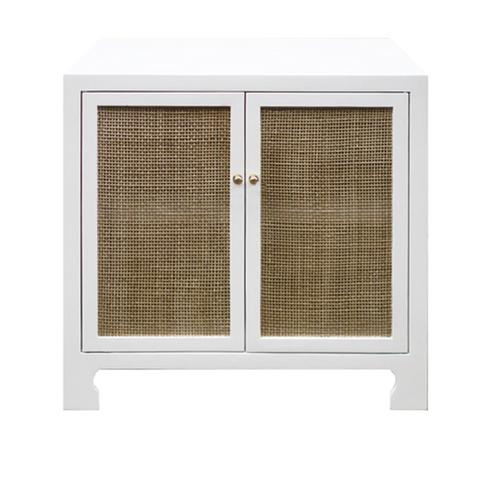 Worlds Away Alden Cane Front Cabinet