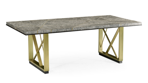 Jonathan Charles Geometric French Oak Dining Table, 84""