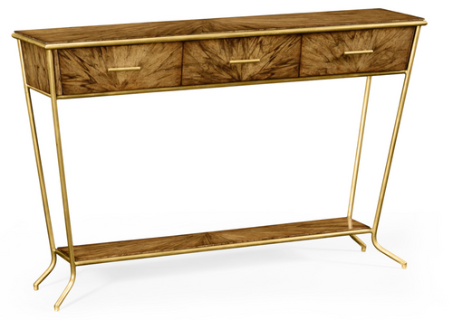 Jonathan Charles Argentinian Walnut Console Table