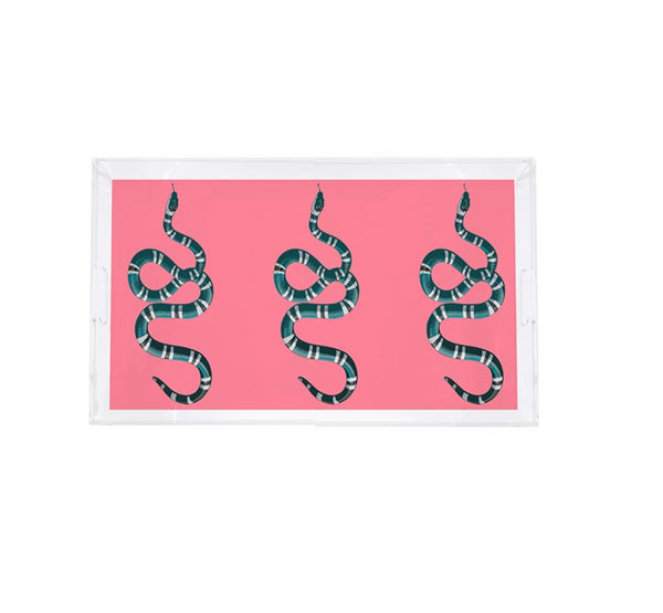 Nicolette Mayer Serpent Acrylic Tray, Pink