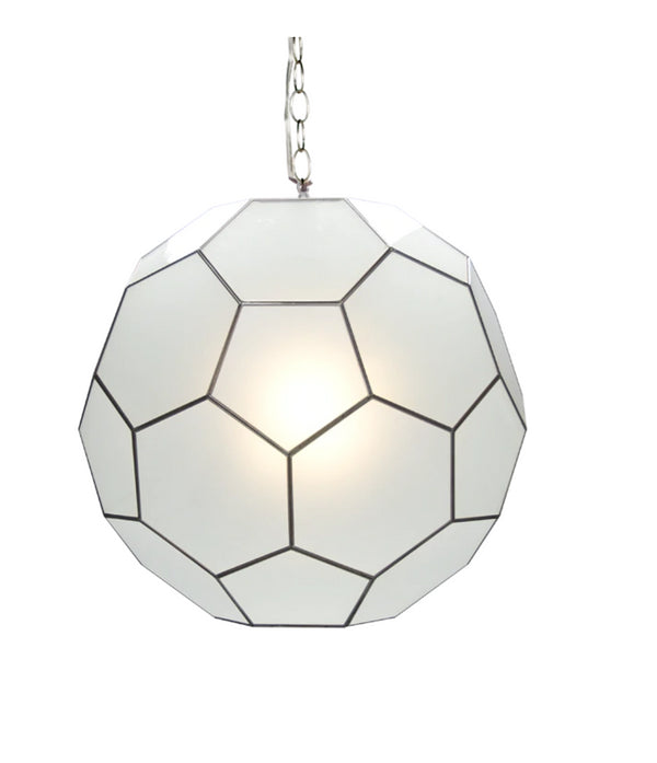 Worlds Away Knox Frosted Glass Pendant Light, 20""