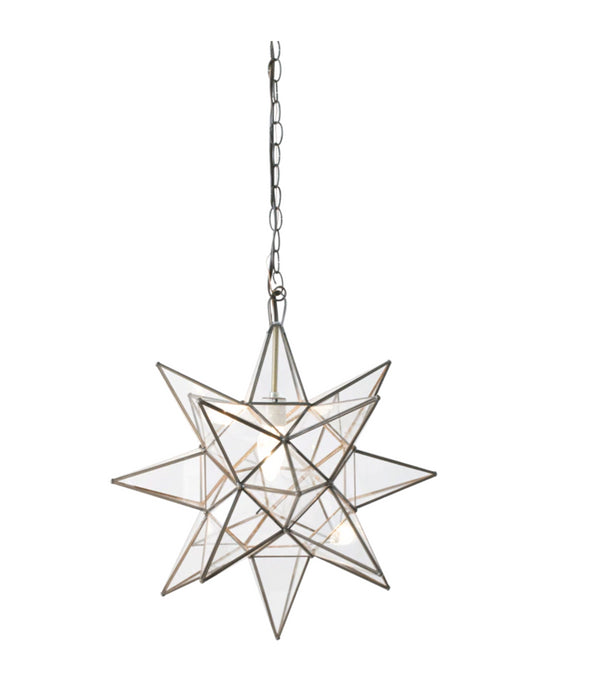Worlds Away Clear Star Chandelier in Various Sizes