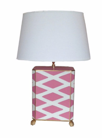 Dana Gibson Parthenon Lamp in Pink