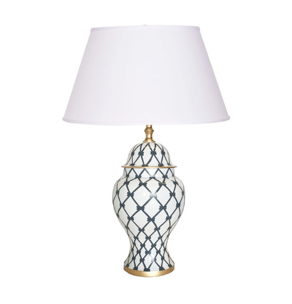 Dana Gibson French Twist Table Lamp, Gray