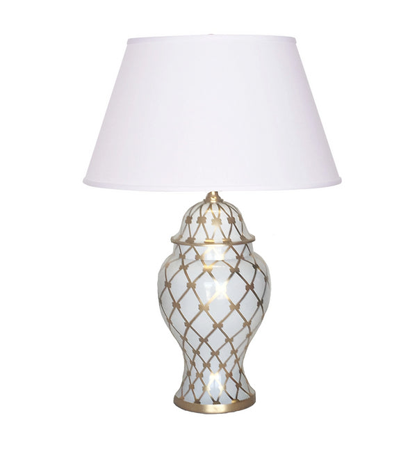 Dana Gibson French Twist Table Lamp, Gold
