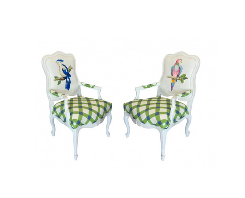 Dana Gibson Parrot Chair in Blue