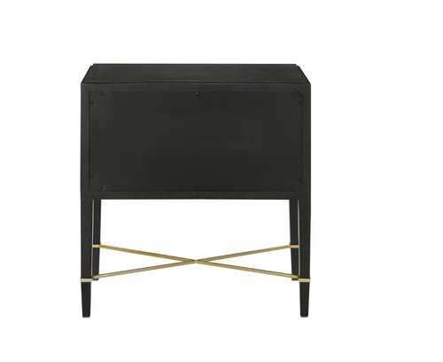 Verona Black Nightstand or Chest by Currey and Company