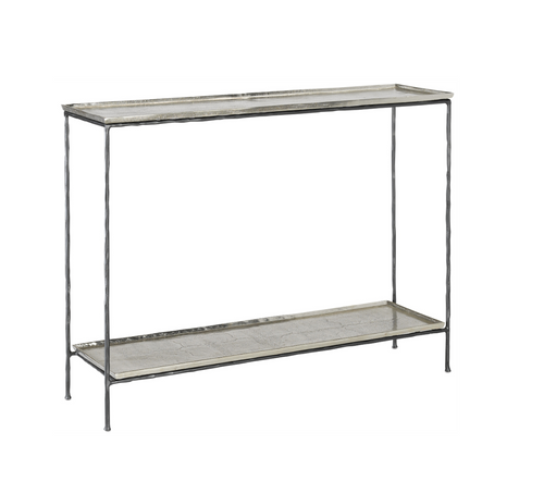 Boyles Console Table in Silver by Currey and Company