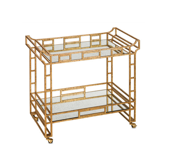 Odeon Bar Cart by Currey and Company
