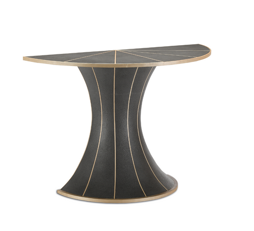 Castille Demi-Lune Table by Currey and Company