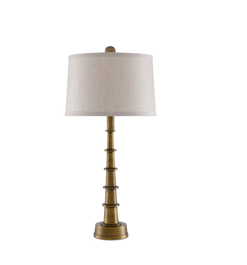 Currey and Company Auger Table Lamp, Small