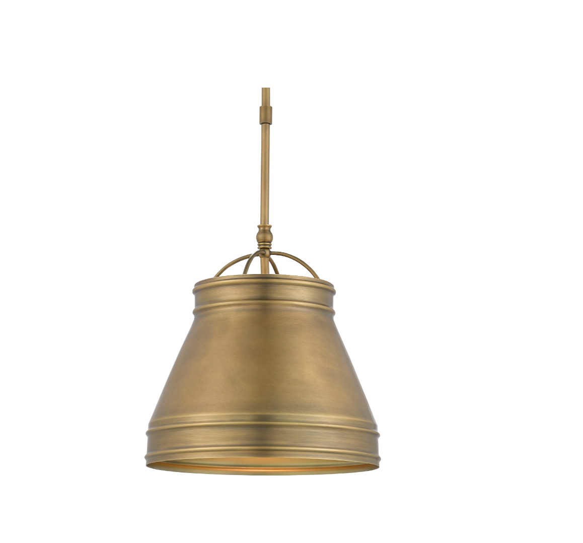 Currey and Company Lumley Pendant, Brass